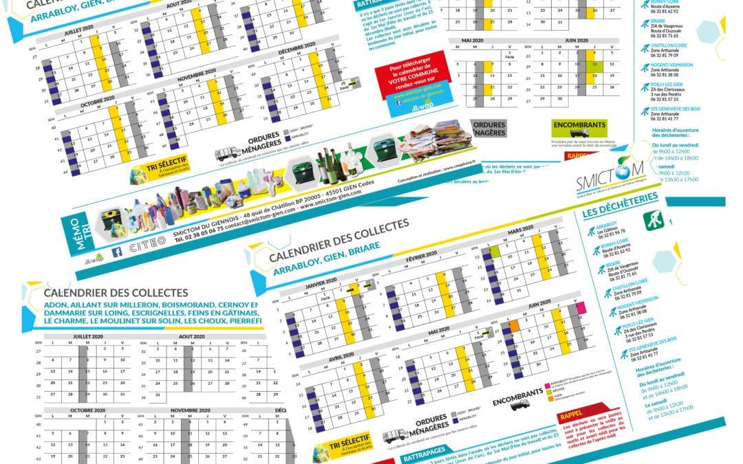 Calendrier personnalisé des collectes 2020