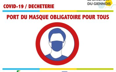 Rappel – Port du masque obligatoire en déchèterie