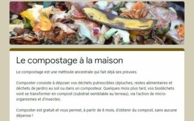 Le compostage à la maison…